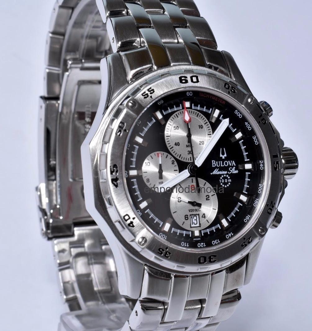 2f197a945e0 relógio bulova marine star original - máquina swiss. Carregando zoom.