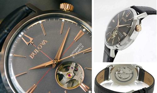 relógio bulova masculino automático 98a187