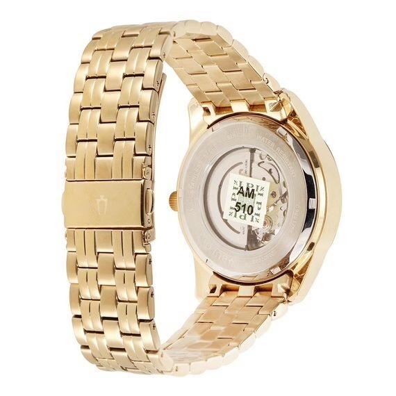 04847fec48d Relógio Bulova Masculino Automático Dourado - R  1.500