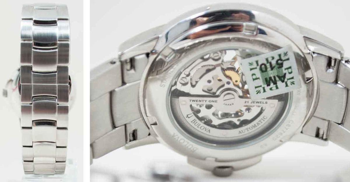 2a60a19ac64 relógio bulova masculino automático esqueleto wb21392n. Carregando zoom.