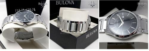 relógio bulova masculino calendário - referência 96b267