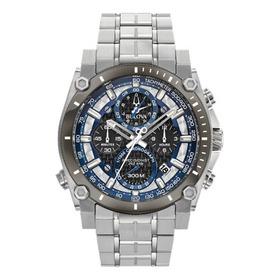 Relógio Bulova Masculino Cronografo Prata - 98b316