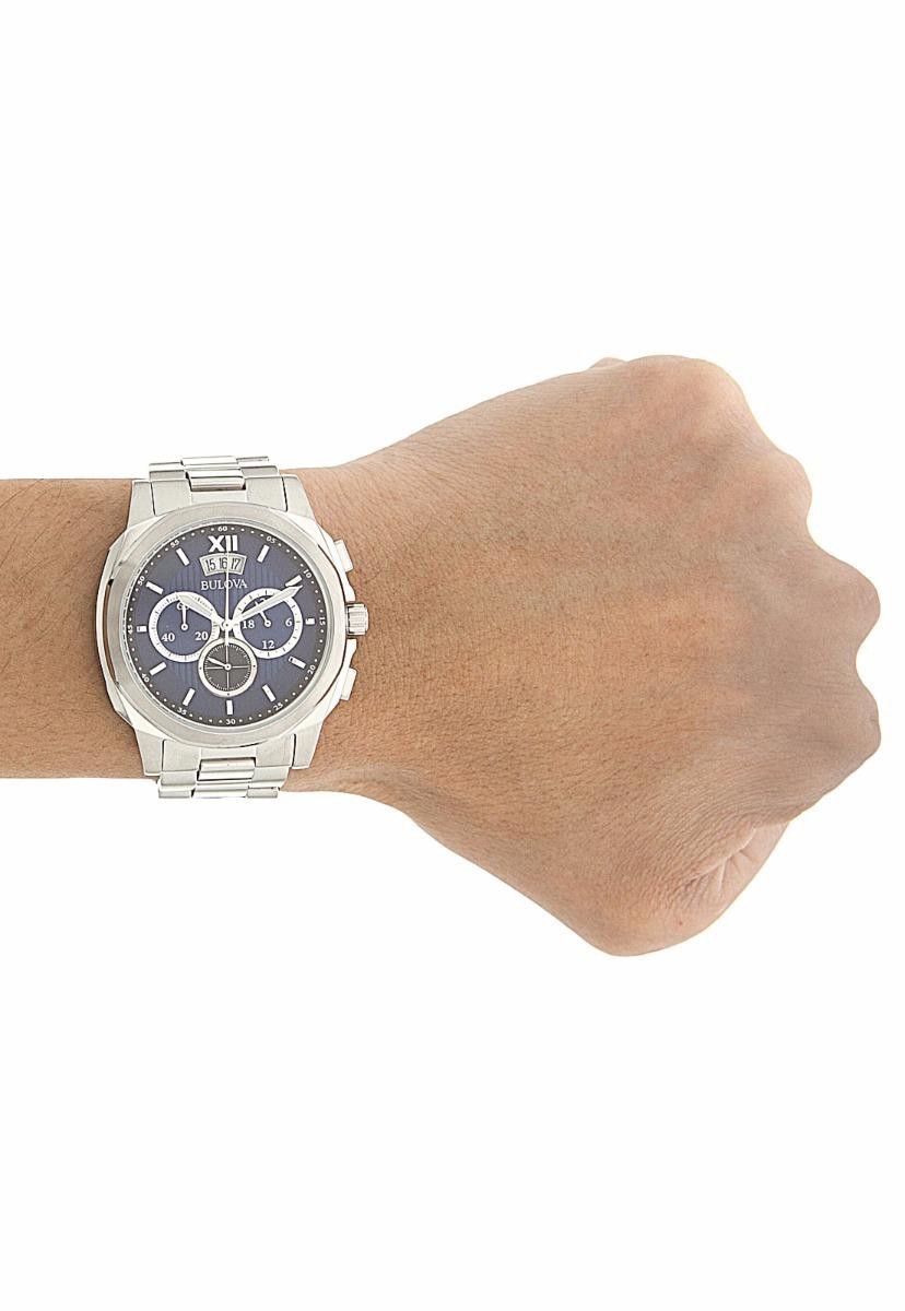 aaedca6a5ba relógio bulova masculino cronógrafo prata wb31818f original. Carregando  zoom.