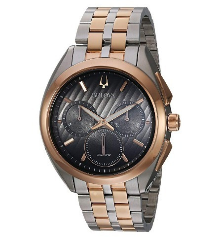 relógio bulova masculino curv cronógrafo rosé precisionist