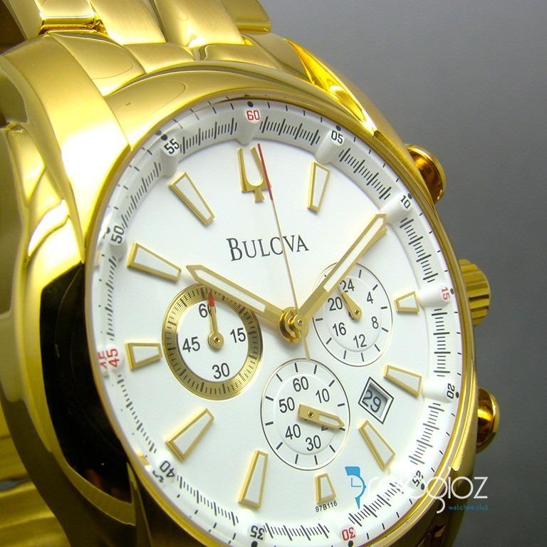 ce79cf42178 Relógio Bulova Masculino Dourado Cronógrafo Wb30980h - R  1.789