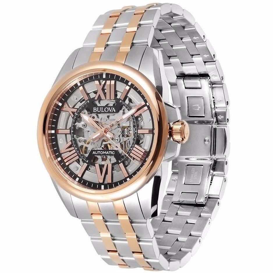 71d4a908c01 relógio bulova masculino esqueleto automático wb31998s - nfe. Carregando  zoom.