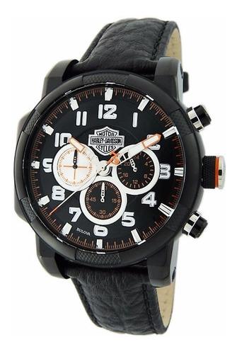 relógio bulova masculino harley davidson - wh30555p - ( nfe)