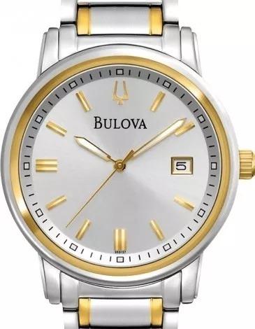 relógio bulova masculino highbridge misto dourado 98b157