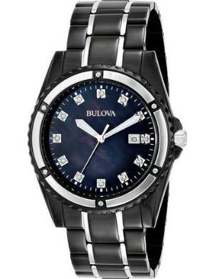 69f0a14059b Relógio Bulova Masculino Marine Star Preto Com Diamantes - R ...