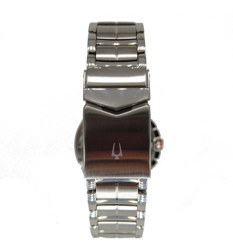 relógio bulova masculino prata cronógrafo