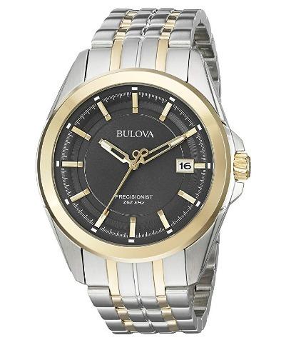 8fe8187a2b4 Relógio Bulova Masculino Precisionist Preto aço dourado 262 - R ...