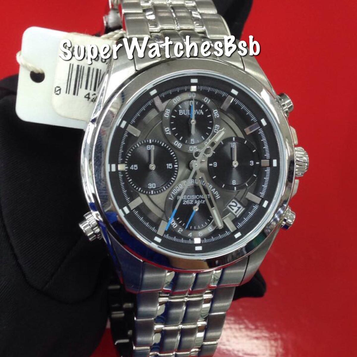 eec4cc4a6 relógio bulova masculino precisionist wb31925w 96b260 aço. Carregando zoom.