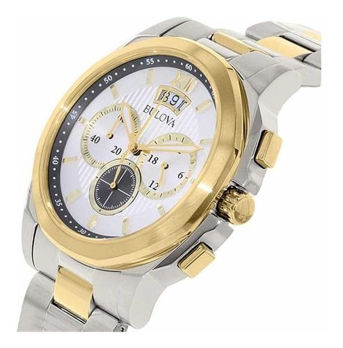 relógio bulova masculino ref: wb30865s cronógrafo original