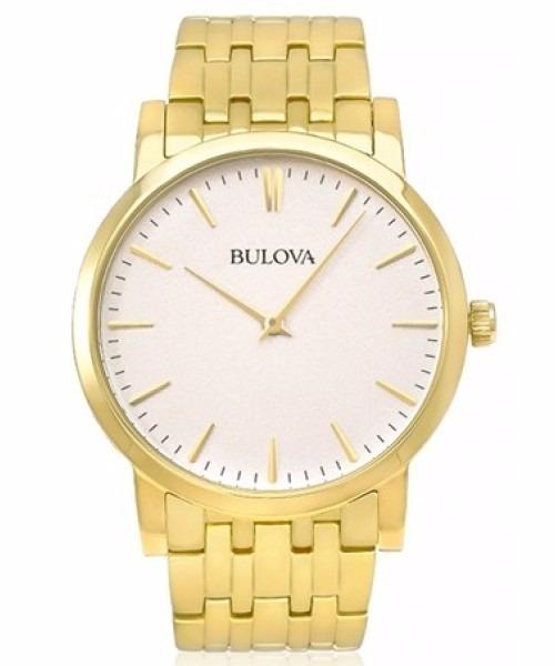 84020d32f4c Relógio Bulova Masculino Super Slim Dourado Wb21669h - R  960 ...