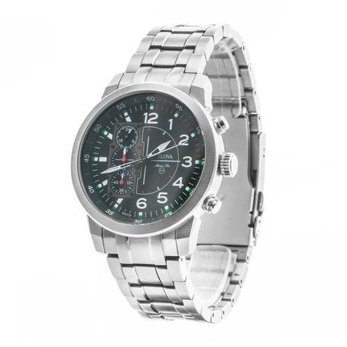 relógio bulova masculino titânio wb31103t- marine star