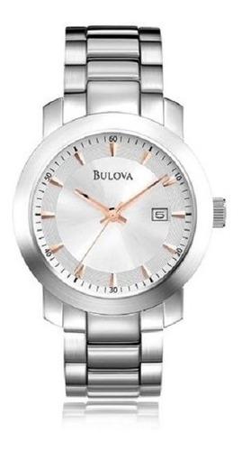 relógio bulova masculino wb22024q classic analogico oferta