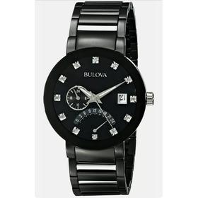 Relogio Bulova Men's 98d109 Quartz Diamond