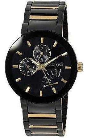 relógio bulova modern gold 98c124
