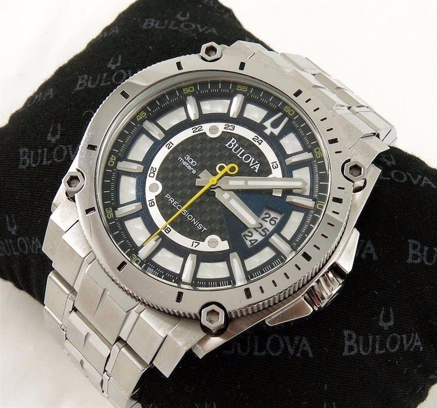 a80096cfdc3 relógio bulova precisionist champlain 96b131 swiss made. Carregando zoom.