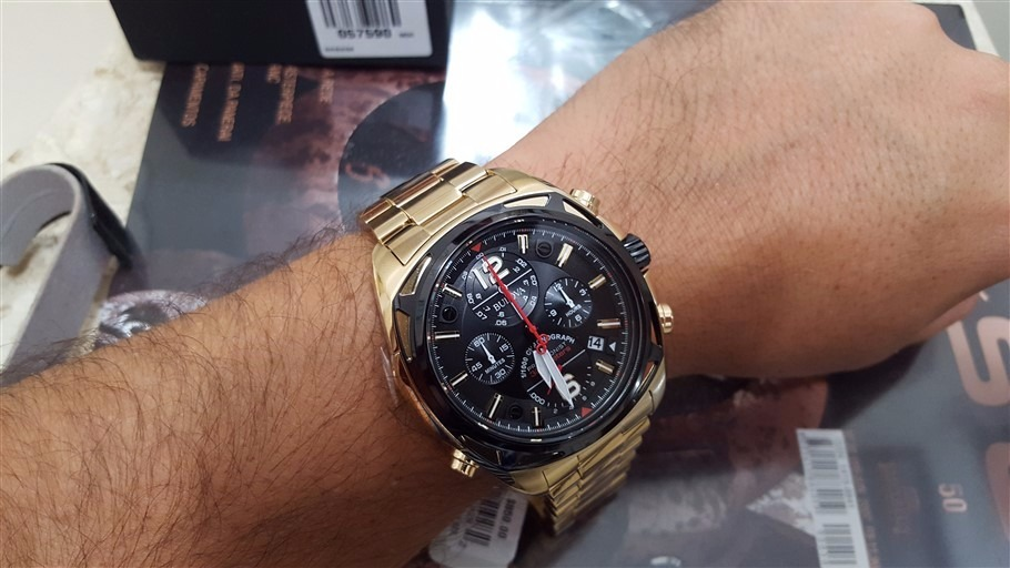 6efe9cf1a9d relógio bulova precisionist cronografo plaque ouro 98b238. Carregando zoom.