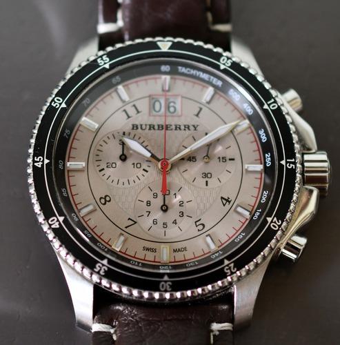 relógio burberry crono suíço - top de linha