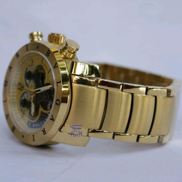 6e0573900a4 Relógio Bv Bullgari Dourado Masculino Automático - Promoção - R  424 ...