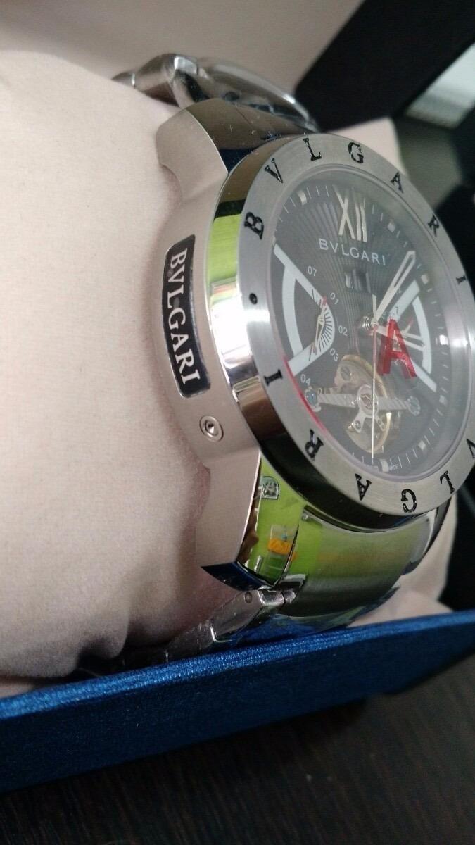 8a6981011be relógio bv iron man prata f  preto original. Carregando zoom.