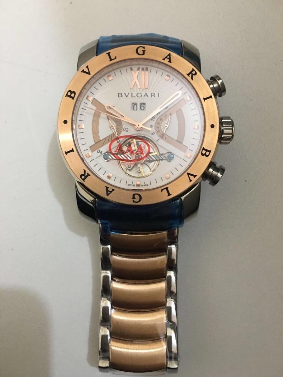 425489bcad4 relógio bv iron man serie ouro rose original. Carregando zoom.