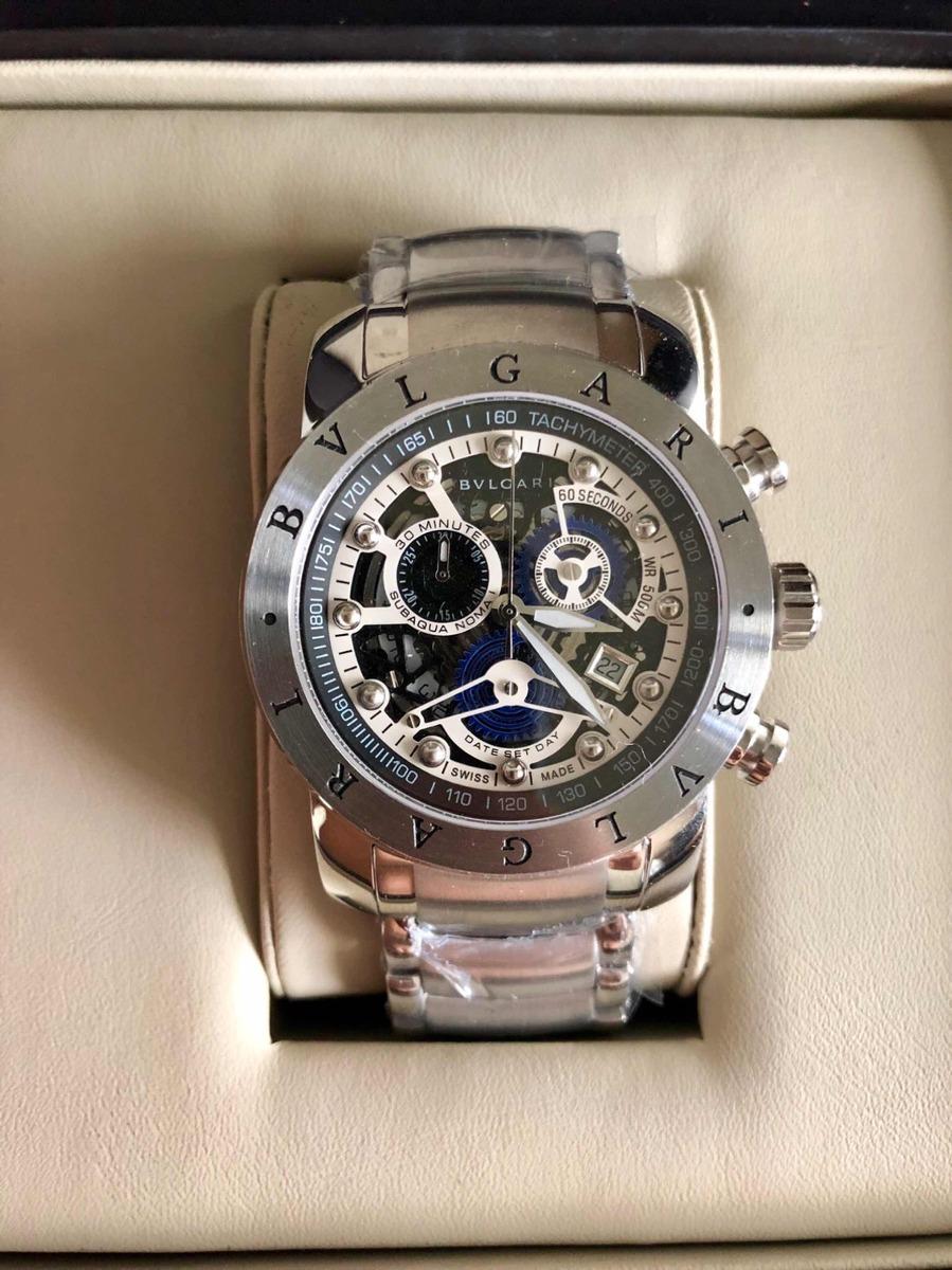 f8bb15fee3b Relógio Bv Iron Man Skeleton Prata - R  629