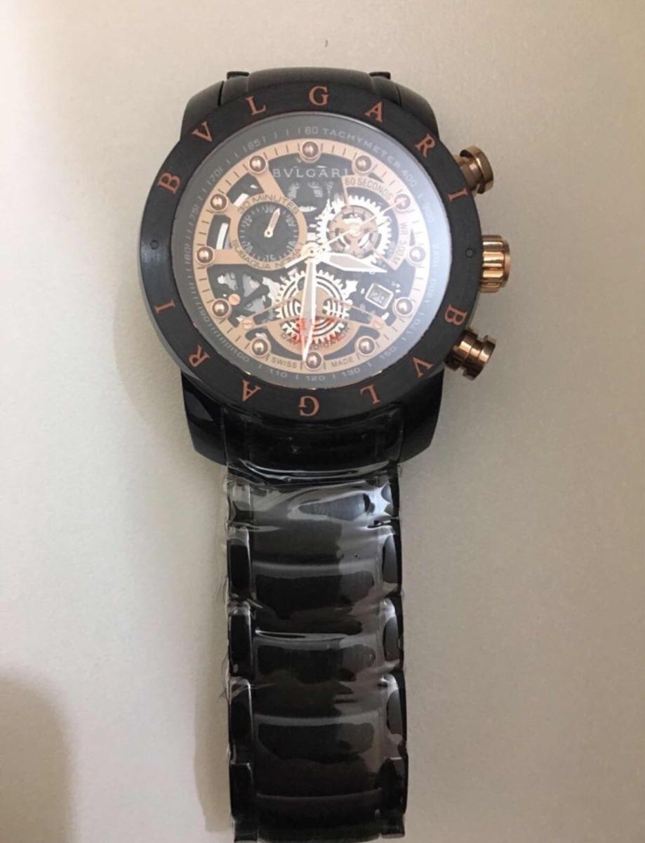 5200ad22ad6 relógio bv skeleton série ouro original. Carregando zoom.