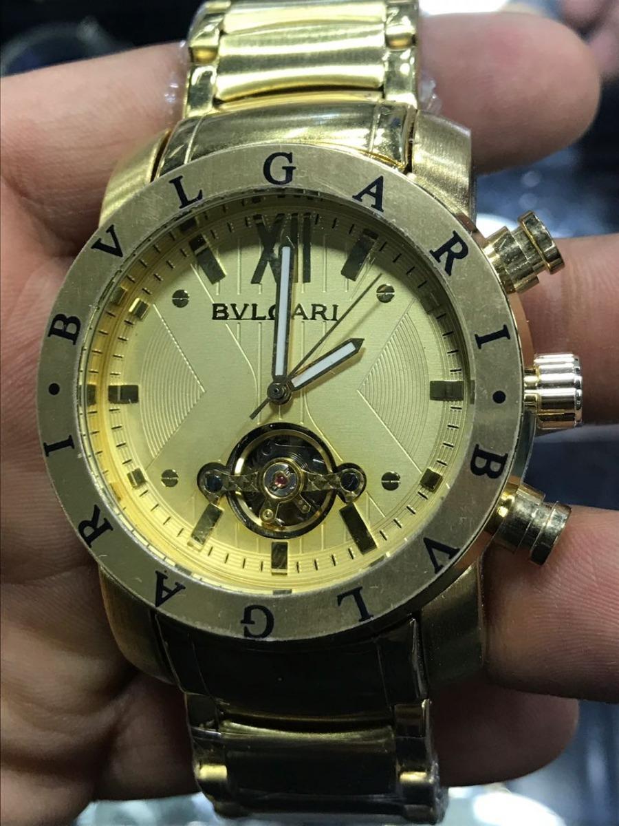 0a66f79719913 relógio bvl masculino dourado automático frete gratis. Carregando zoom.