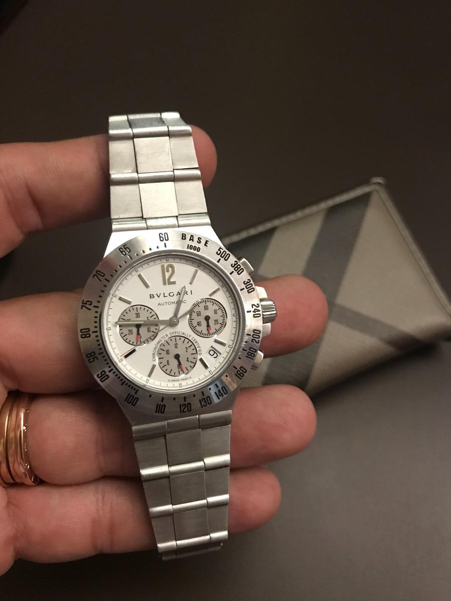 ed9cddf783c relógio bvlgari aço original diagono profissional. Carregando zoom.