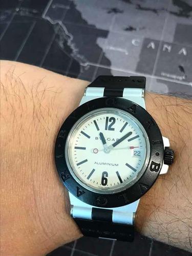 relógio bvlgari aluminium al38a - automatico 100% original!