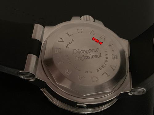 relógio bvlgari diagono professional scuba diving 2000m ref. sd42s completo