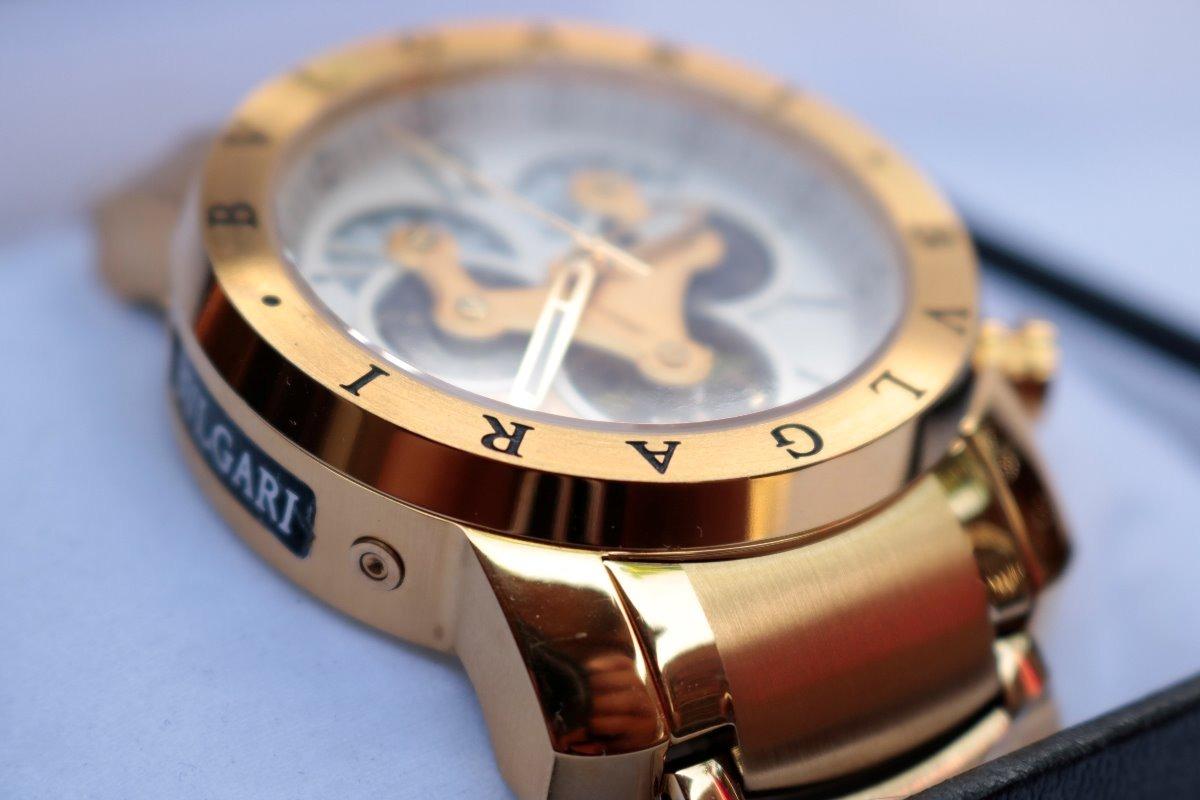 7ebbdec87fe relógio bvlgari dourado masculino automático - promoção. Carregando zoom.