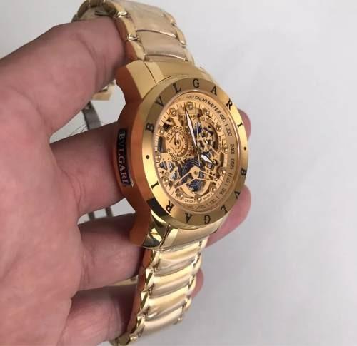 f215ac9784a47 Relogio Bvlgari Esqueleto Dourado! Promocao Barato - R  349,99 em ...