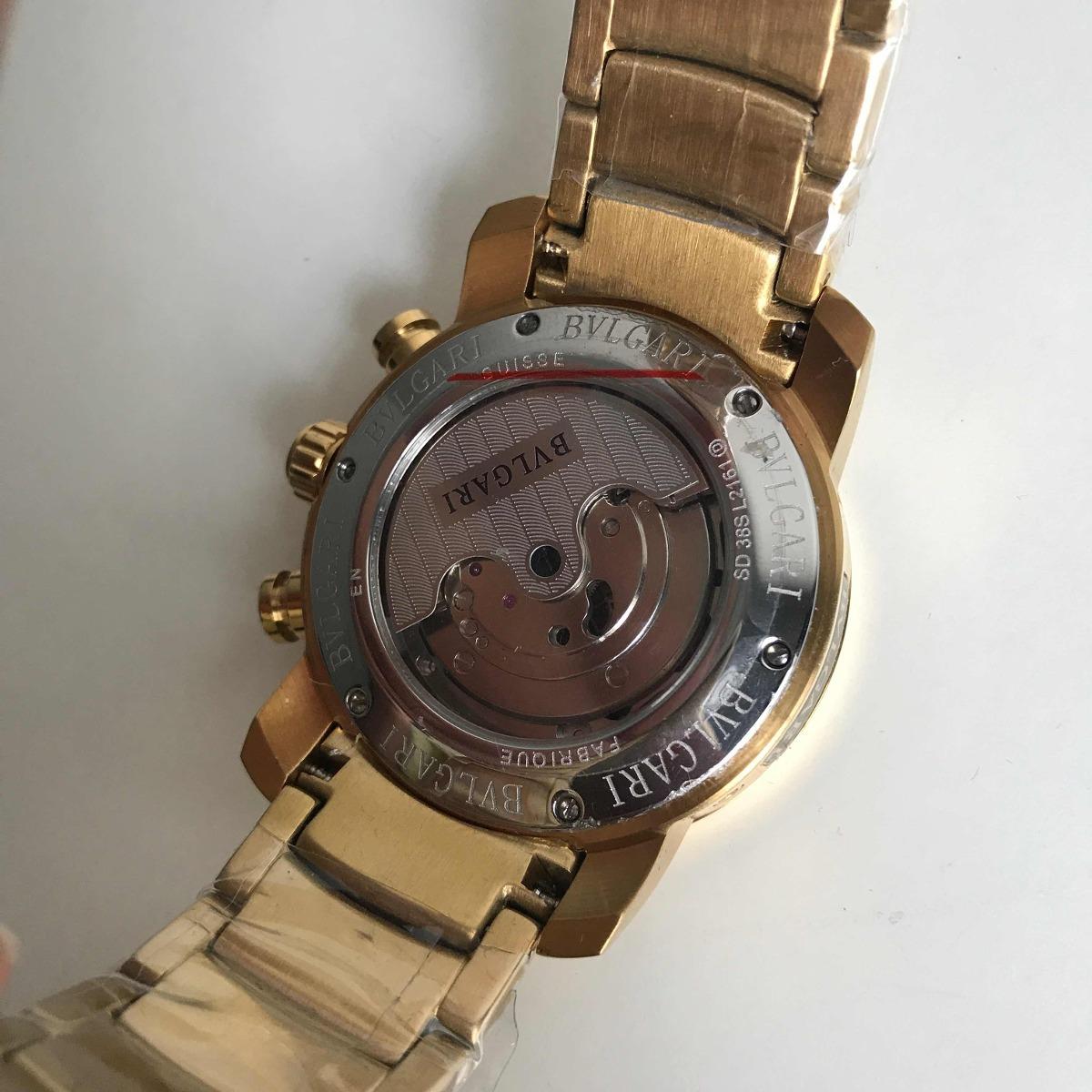 6e77a308c42 Relógio Bvlgari Iron Man Dourado Automático