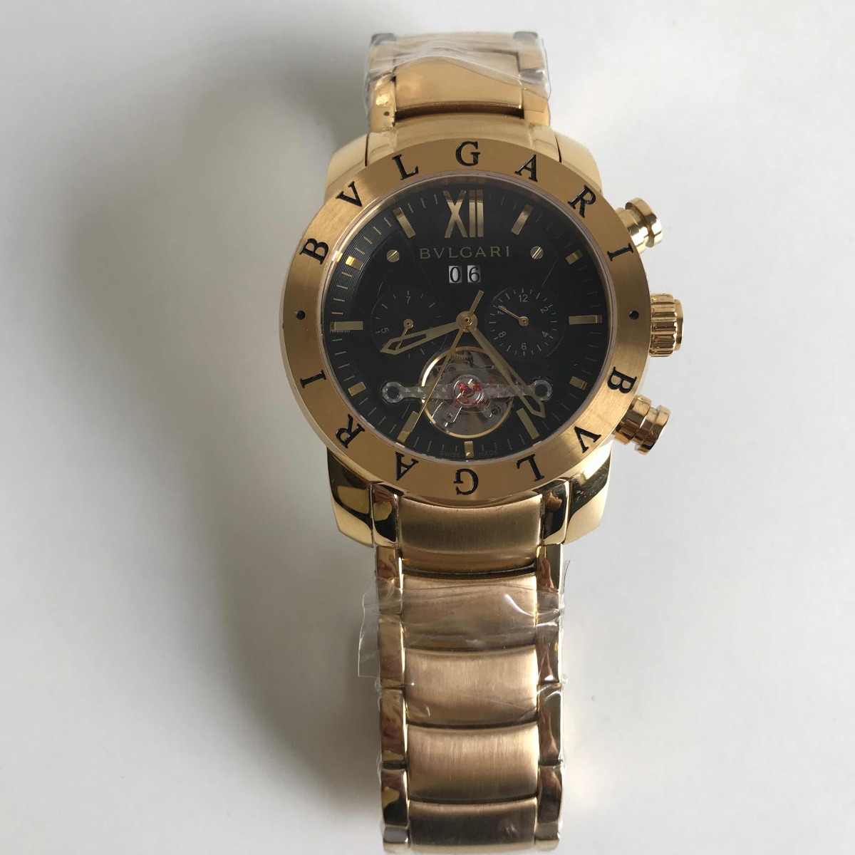 8022cfc0aaa Relógio Bvlgari Iron Man Dourado Automático