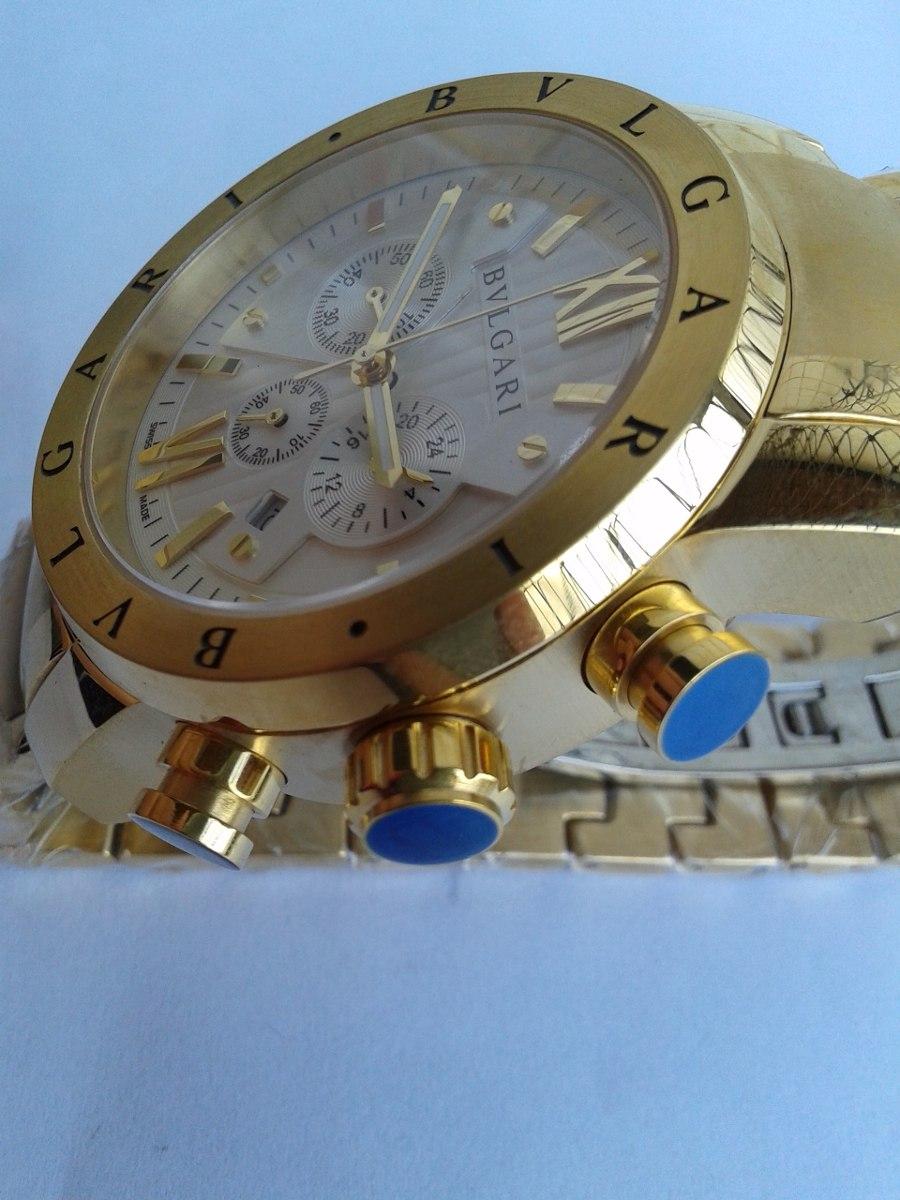 8a5c37bb711 relógio bvlgari iron man dourado frete grátis com caixa. Carregando zoom.