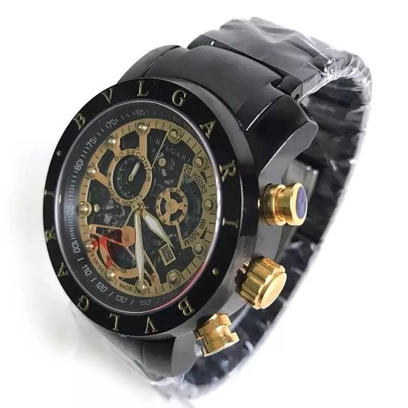 b1a95b1ba76 relógio bvlgari iron man ouro golden luxo skeleton bu9965. Carregando zoom.