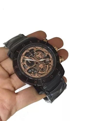 21c8e37274e Relógio Bvlgari Iron Man Ouro Golden Luxo Skeleton Bu9965 - R  249 ...