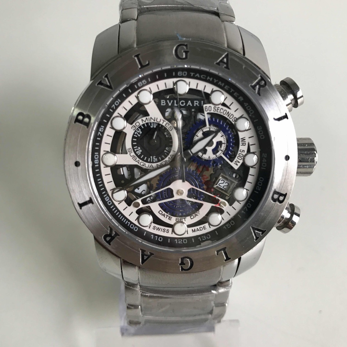 8f1a033bcd8 relógio bvlgari iron man prata esqueleto. Carregando zoom.