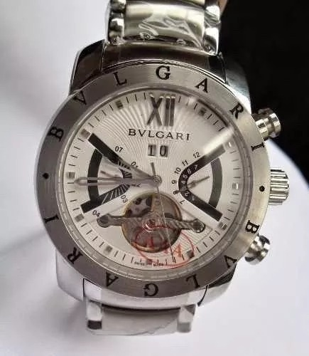 7453ef06365 Relógio Bvlgari Iron Man Prata F branco - R  399