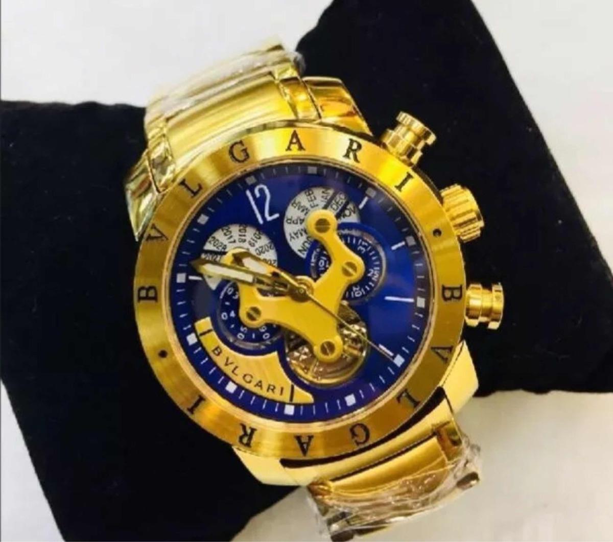 cbf510e542e relógio bvlgari iron man venon skeleton dourado prata preto. Carregando zoom .