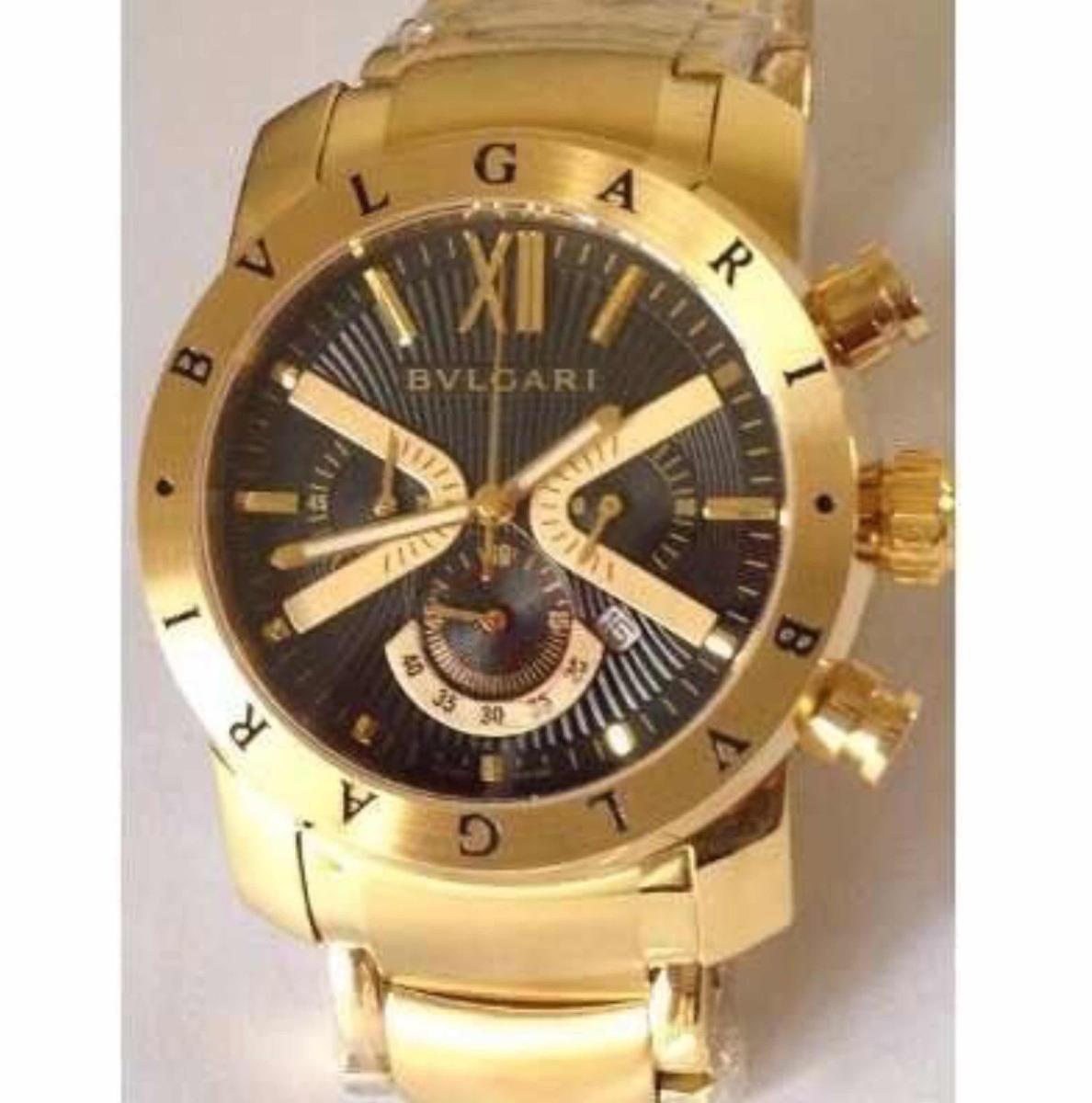 297ff52f8a9 Relógio Bvlgari Iron Man X Limited Dourado Fundo Preto - R  379