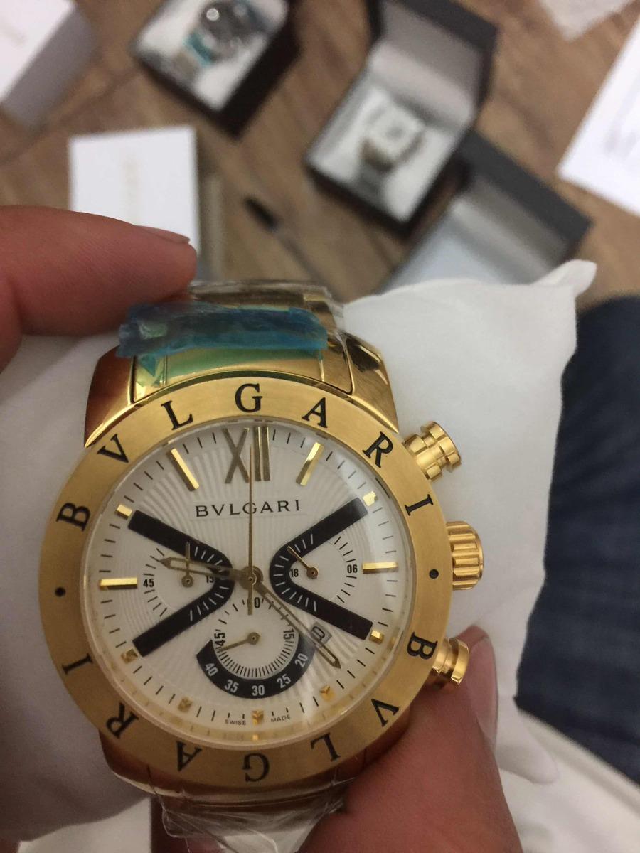 f720f842abe Relógio Bvlgari Iron Man X Limited Dourado Fundo Preto - R  379