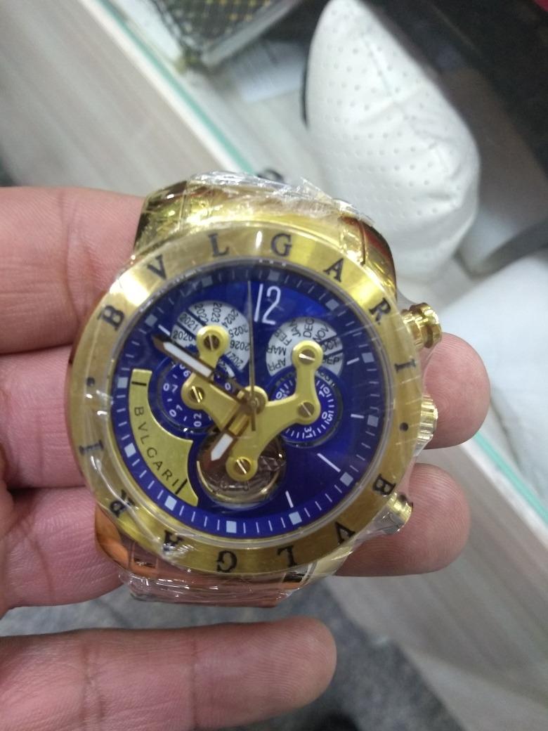 ba18ef0b4b0 Relógio Bvlgari Automatico - Masculino + Frete Gratis - R  364