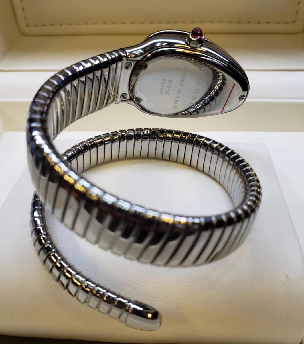 e7d55f523c2 relogio bvlgari serpente. acabamento suíço. Carregando zoom.