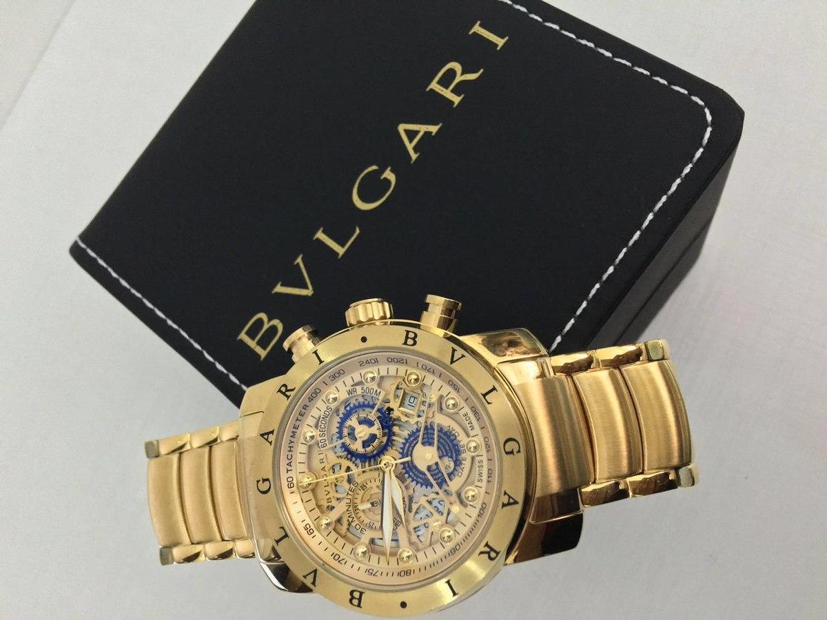 970ac4a5b03 Relógio Bvlgari Skeleton Dourado - R  380