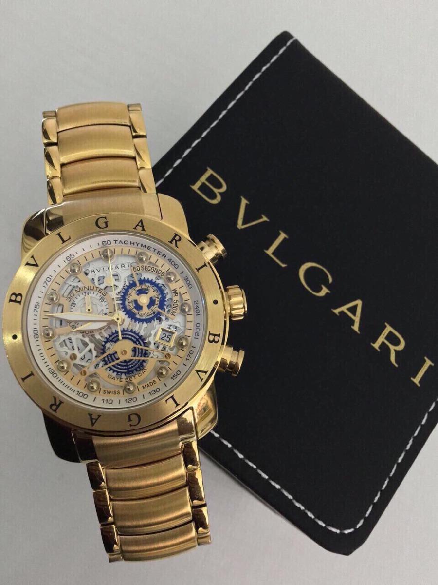 7e688f54525 relógio bvlgari subaqua skeleton dourado. Carregando zoom.